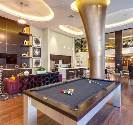 ... Resident Lounge With Billiards At Camden Glendale Apartments In Glendale,  CA ...