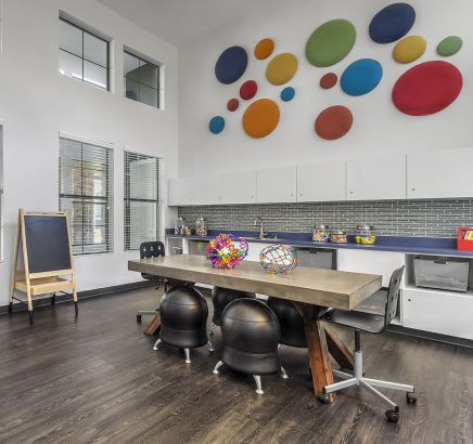 Childrens Arts and Crafts Room at Camden Highlands Ridge in Apartments in Highlands Ranch, CO