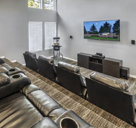 Theater Room at Camden Highlands Ridge Apartments in Highlands Ranch, CO