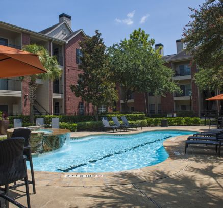 Lap Pool at Camden Holly Springs Apartments in Houston, TX