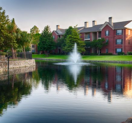 Private Lake at Camden Holly Springs Apartments in Houston, TX