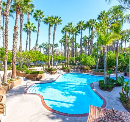 Pool at Camden Martinique Apartments in Costa Mesa, CA
