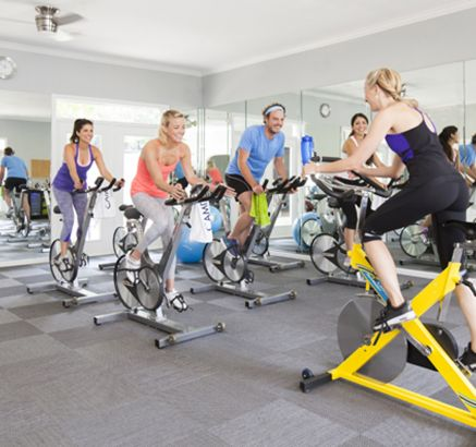 Spin Classes at Camden Midtown Houston Apartments in Houston, TX