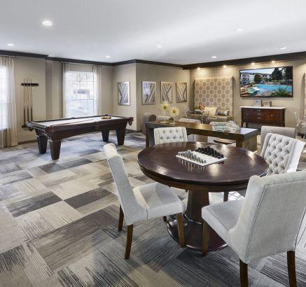 Game Room at Camden Midtown Houston Apartments in Houston, TX