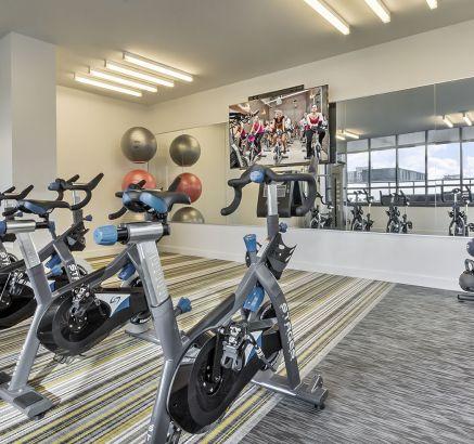 Yoga Room at Camden NoMa Apartments in Washington DC