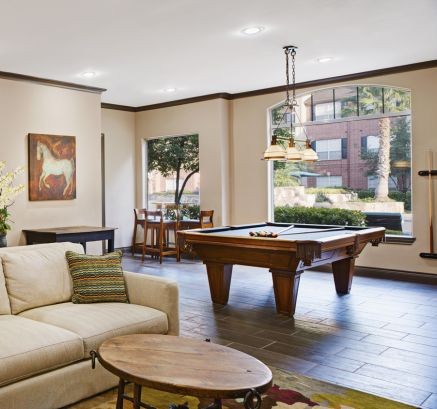 Game Room at Camden Oak Crest Apartments in Houston, TX