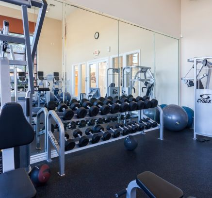 Fitness Center at Camden Old Creek apartments in San Marcos, CA