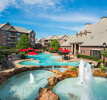 Pool at Camden Panther Creek Apartments in Frisco, TX