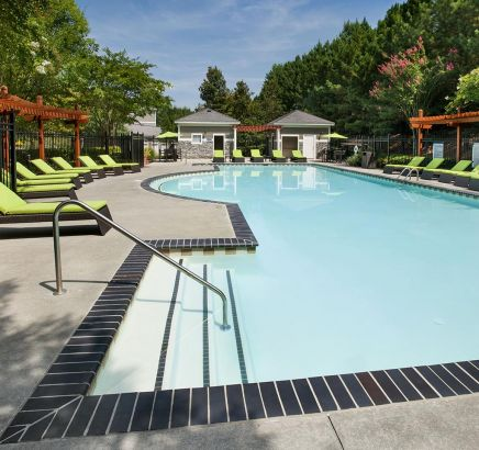 Camden Peachtree City Apartments pool in Peachtree City, GA