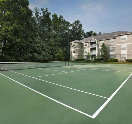 Camden Peachtree City Apartments Tennis Court in Peachtree City, GA