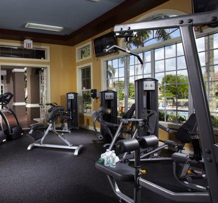 Fitness Center at Camden Plantation Apartments in Plantation, FL