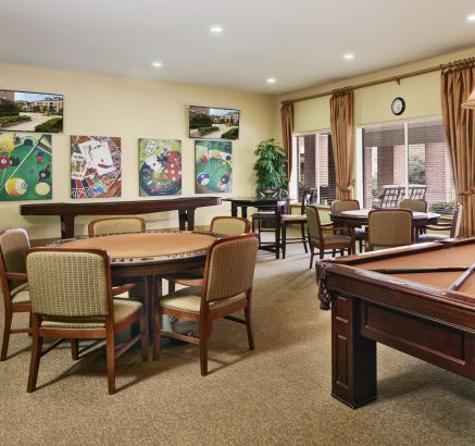Game Room at Camden Royal Oaks Apartments in Houston, TX