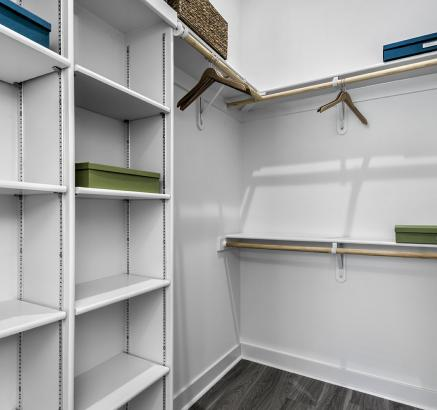 Spacious Closets with Custom Shelving System at Camden Shady Grove apartments in Rockville, MD