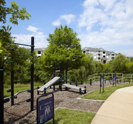 Outdoor Fitness Station at Camden Silo Creek Apartments in Ashburn, VA