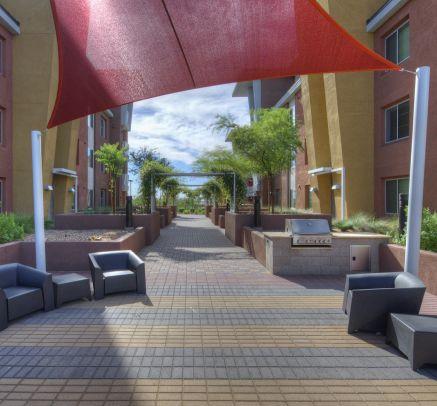 Outdoor Lounge at Camden Sotelo apartments in Tempe, AZ