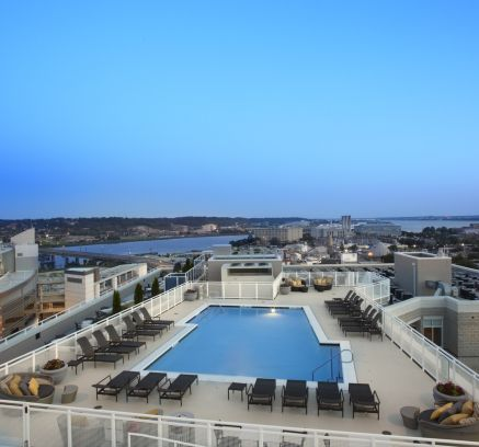 Rooftop Pool at Camden South Capitol Apartments in Washington, DC