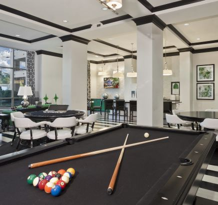 Game room at Camden Southline Apartments in Charlotte, NC
