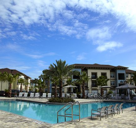 Pool at Camden Town Square Apartments in Kissimmee, FL