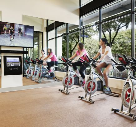 Spinning Bikes at Camden Victory Park Apartments in Dallas, TX