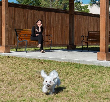 Pet Park at Camden Yorktown Apartments in Houston, TX