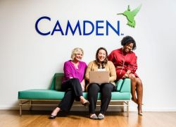 Camden women team members working together