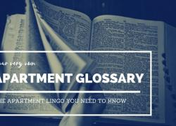 Apartment word lingo Glossary