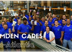 Camden Cares volunteers at Capitol Area Food Bank