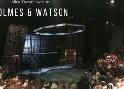 Holmes and Watson stage before performance