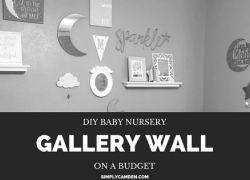 DIY Baby Nursery Gallery Wall