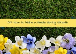 DIY: How to Make a Simple Spring Wreath