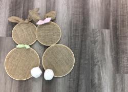 Easy DIY Cute Burlap Bunny