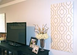 Easy DIY Wall Decor - Fabric Panels!
