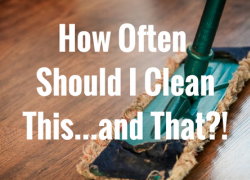 How Often Should I Clean This...and That?!