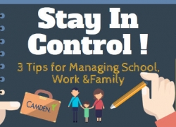 Stay In Control! 3 Tips for Managing School, Work, and Family