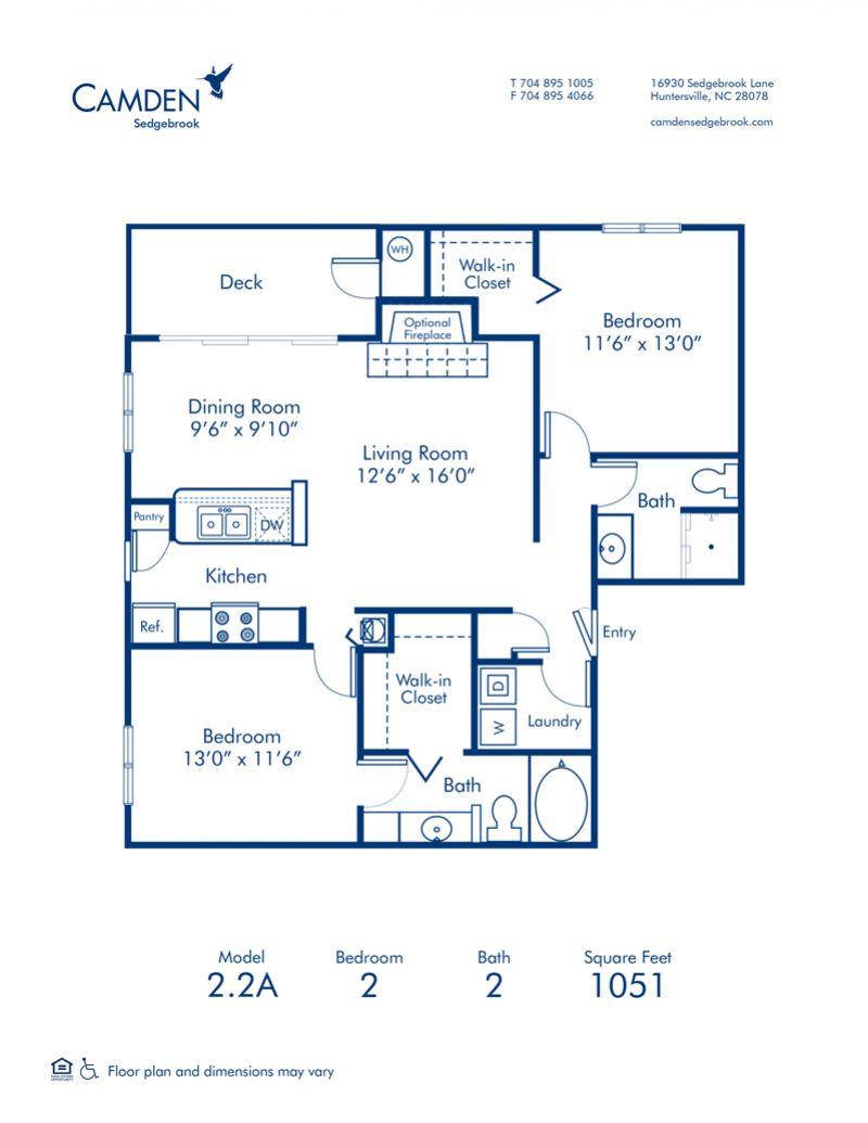 1 2 3 Bedroom Apartments In Huntersville Nc Camden Sedgebrook