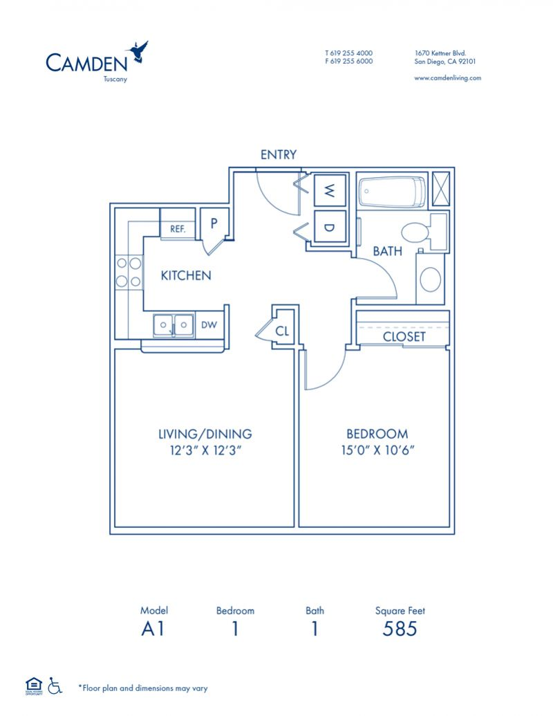 Studio 1 2 3 Bedroom Apartments In San Diego Ca Camden Tuscany