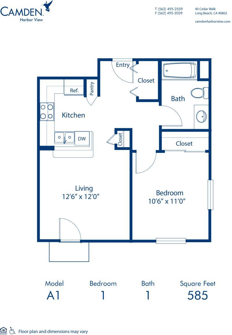 1 2 3 Bedroom Apartments In Long Beach Ca Camden Harbor View
