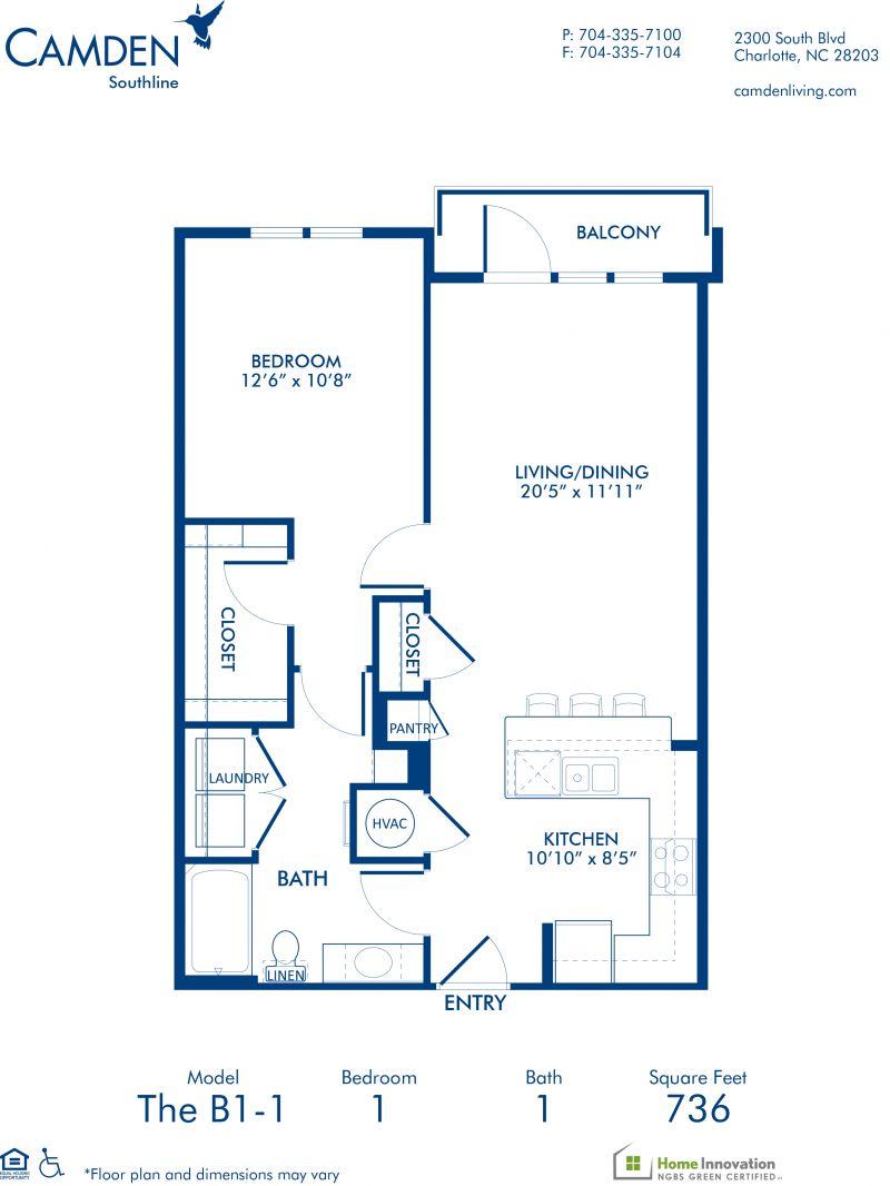 Studio 1 2 Bedroom Apartments In Charlotte Nc Camden Southline