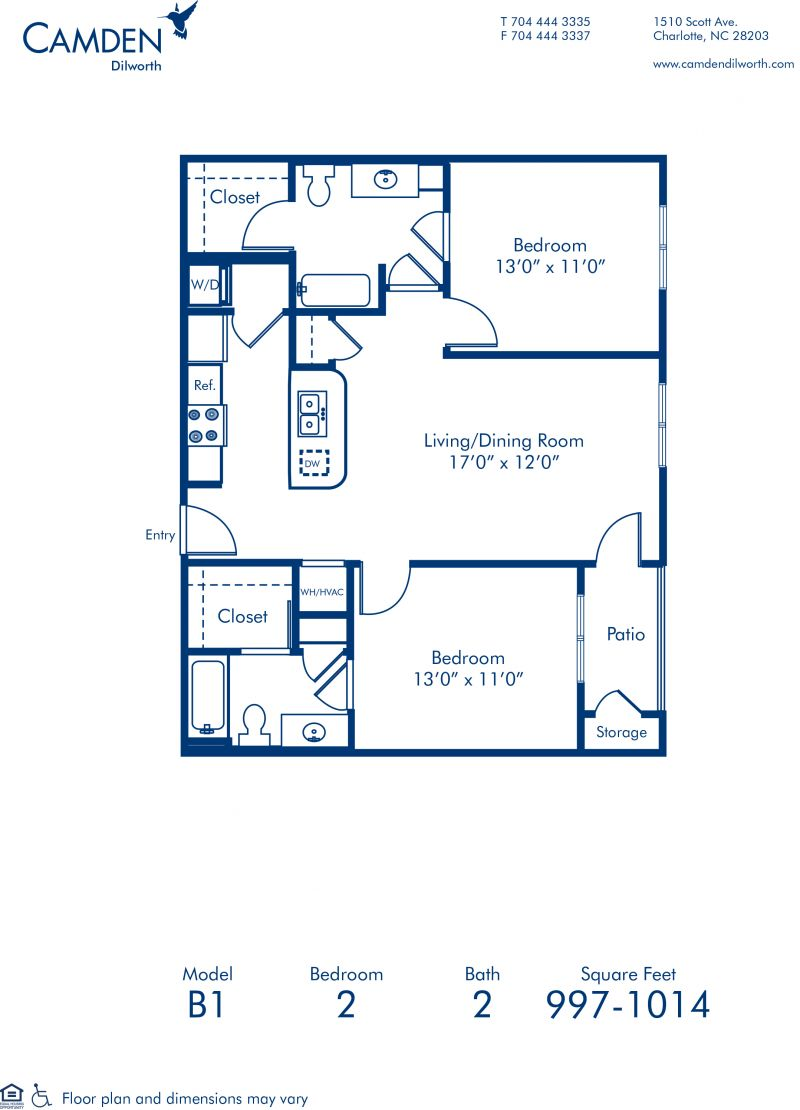 1 2 3 Bedroom Apartments In Charlotte Nc Camden Dilworth