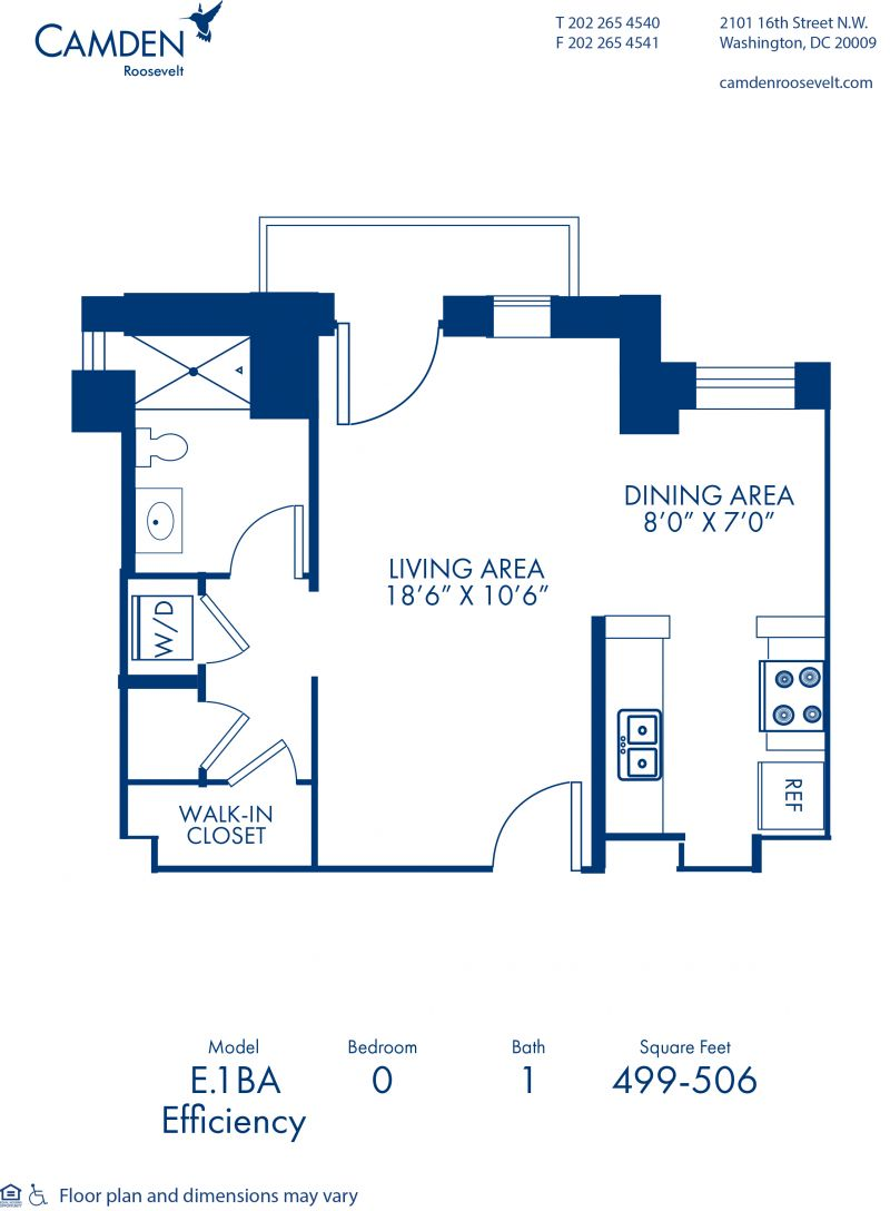 Studio, 1, 2 & 3 Bedroom Apartments In Washington, DC