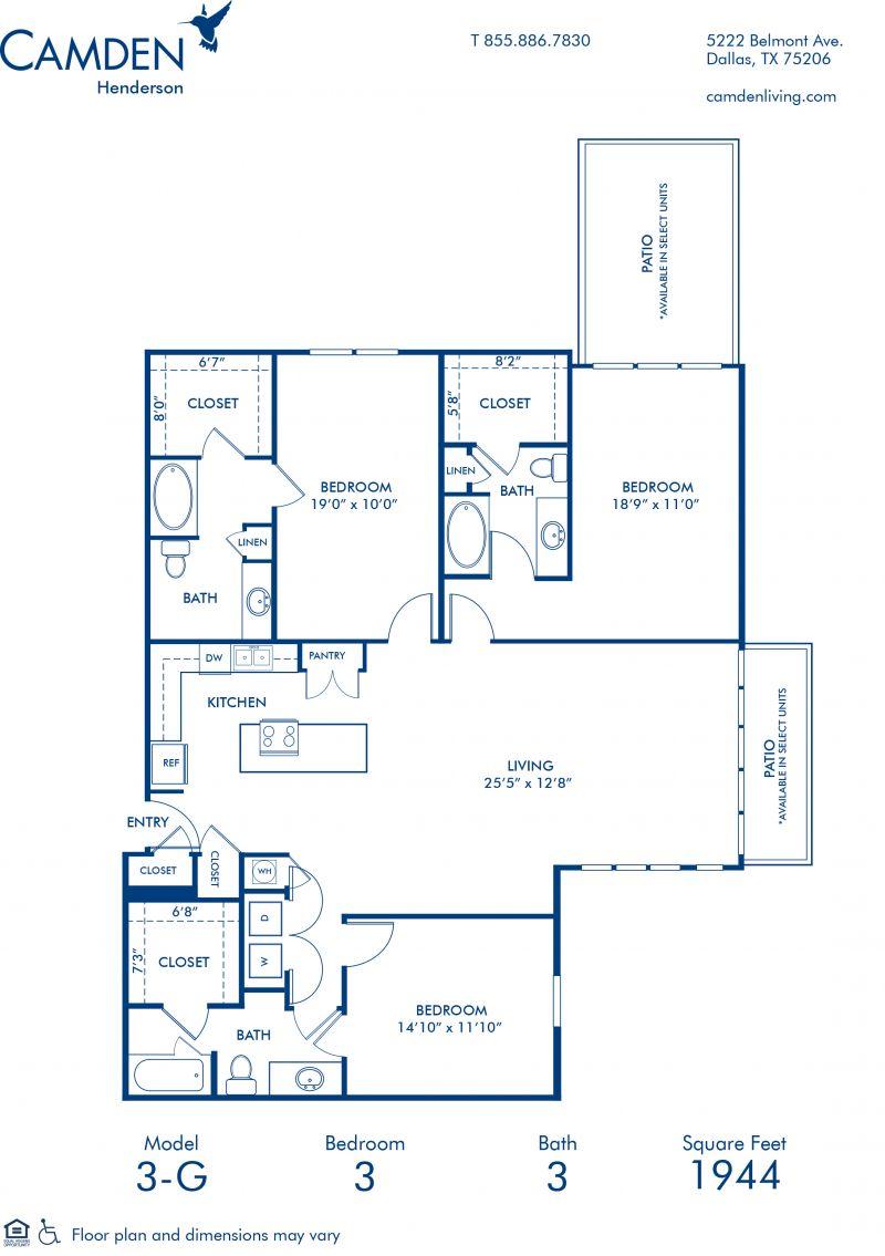 1, 2 & 3 Bedroom Apartments in Dallas, TX - Camden Henderson