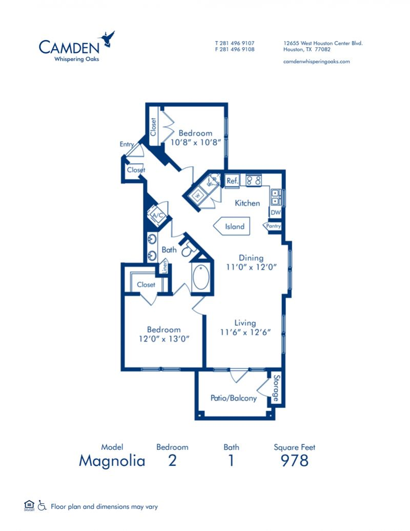 1 2 3 Bedroom Apartments In Houston Tx Camden Whispering Oaks