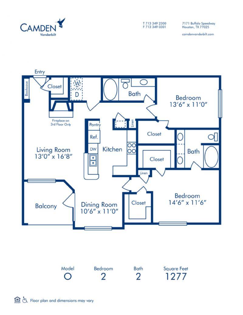1 2 Bedroom Apartments In Houston Tx Camden Vanderbilt