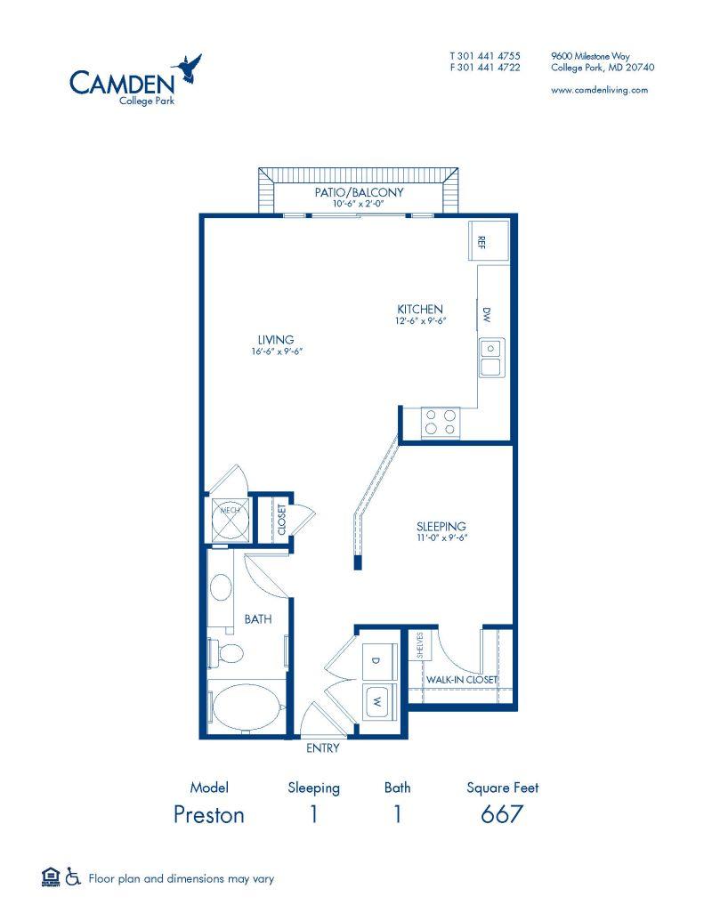 Studio 1 2 Bedroom Apartments In College Park Md Camden College Park