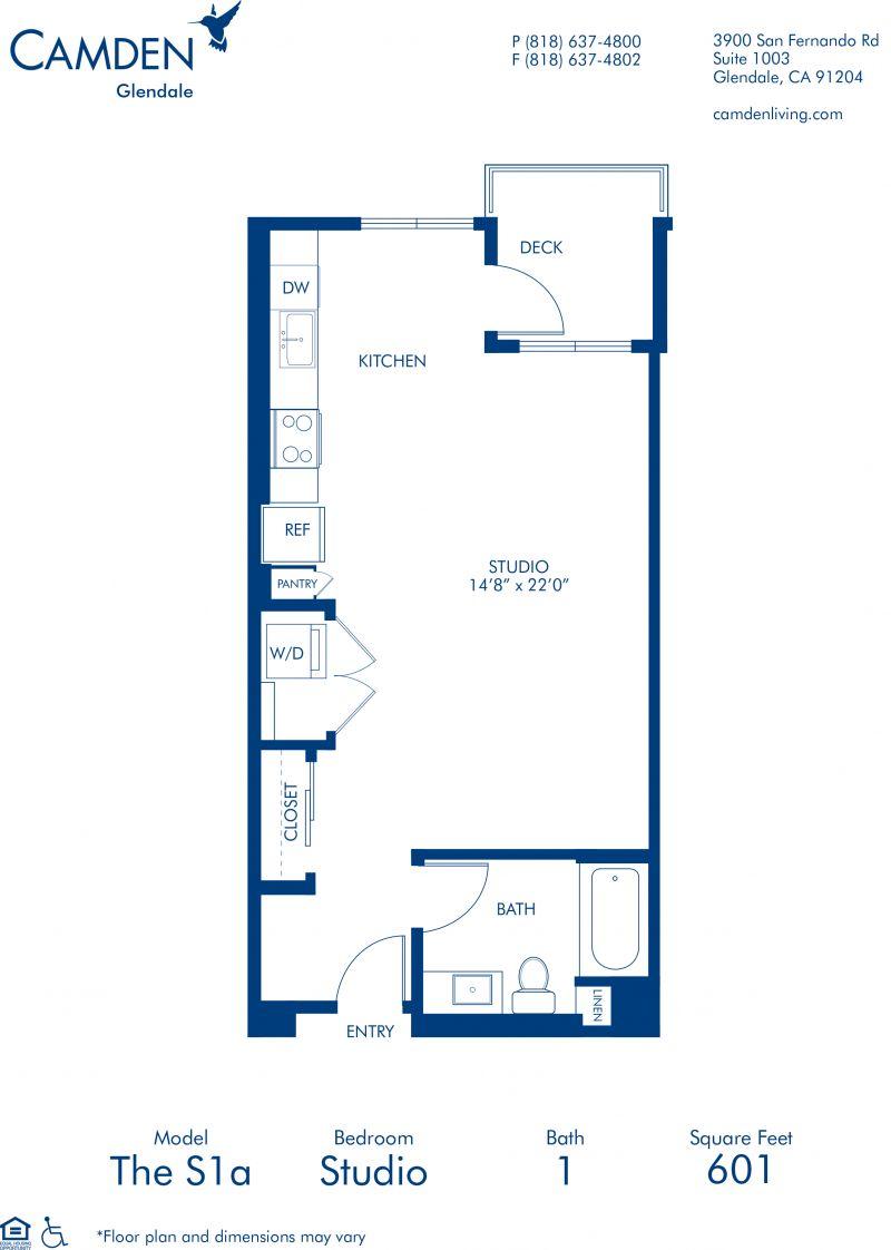 Studio, 1 & 2 Bedroom Apartments in Glendale, CA - Camden ...