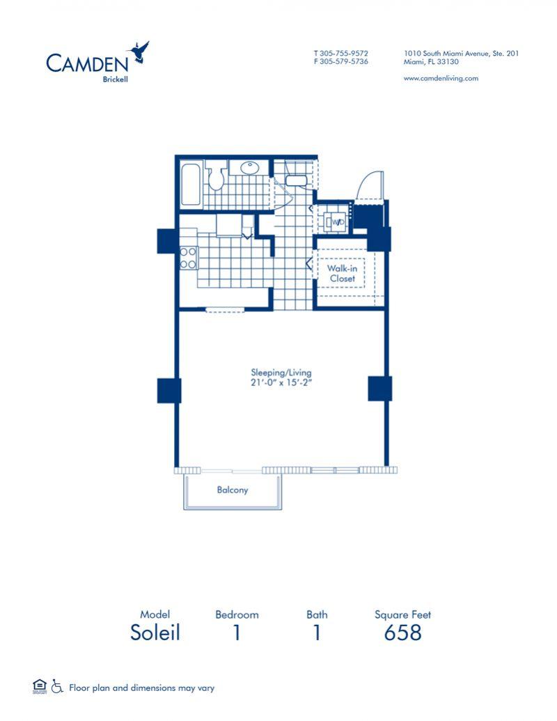 Studio 1 2 Bedroom Apartments In Miami Fl Camden Brickell