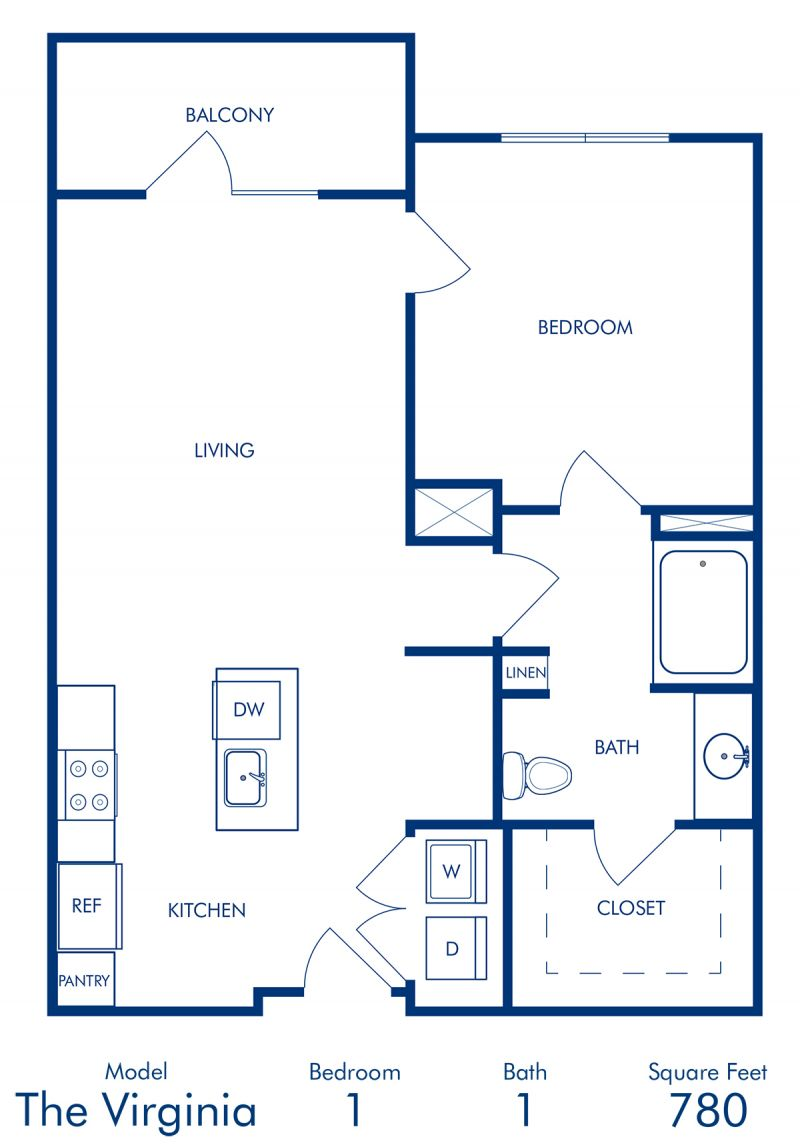 Studio 1 2 bedroom apartments in atlanta ga camden buckhead square blueprint of virginia floor plan 1 bedroom and 1 bathroom at camden buckhead square apartments malvernweather Gallery