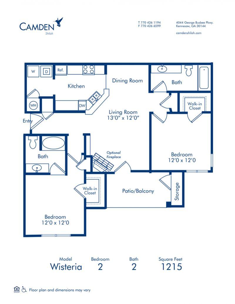 . 1  2   3 Bedroom Apartments in Kennesaw  GA   Camden Shiloh