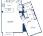 Blueprint of A13.1 Floor Plan, 1 Bedroom and 1 Bathroom at Camden Victory Park Apartments in Dallas, TX