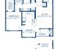 Blueprint of Coral (Solarium) Floor Plan, 1 Bedroom and 1 Bathroom at Camden Bay Apartments in Tampa, FL